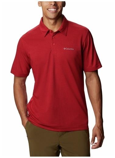 Columbia Columbia Erkek Kırmızı Polo T-Shirt Kırmızı